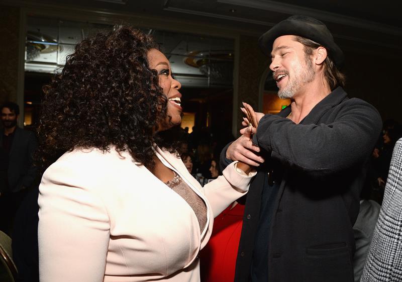 Oprah and Brad Pitt
